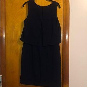 Eliza J Dresses - Eliza J Blue Scoop Neck Sleeveless Dress Navy 10